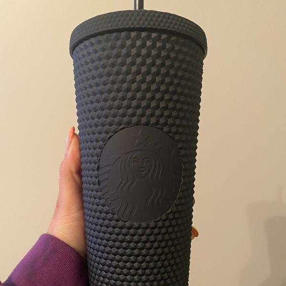 Starbucks black matte studded tumbler 24oz
